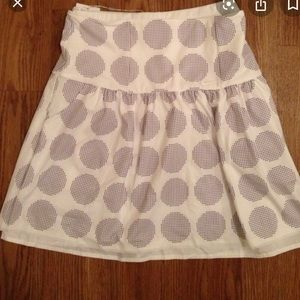 Nike reversible golf skirt. White; white with dots